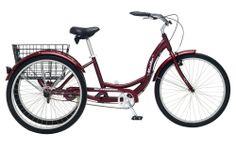 "New Adult Women's Cruiser Bike 26"" Single Speed 3-Wheeled Bicycle Rear Basket"