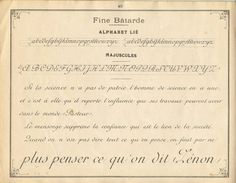 French instruction manual, 1900, page 40.  Batarde or Bastarda, which is much more slanted than French Ronde (roundhand), being far more similar to the Cursive in this book.  I'm honestly not sure how the Cursive in this book varies from English Roundhand, which the French usually simply called Anglais.
