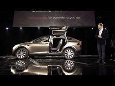 Elon Musk introduces the Tesla Model X (2012.2.9) Tesla Model X, Elon Musk, In This Moment, Youtube, Youtubers, Youtube Movies