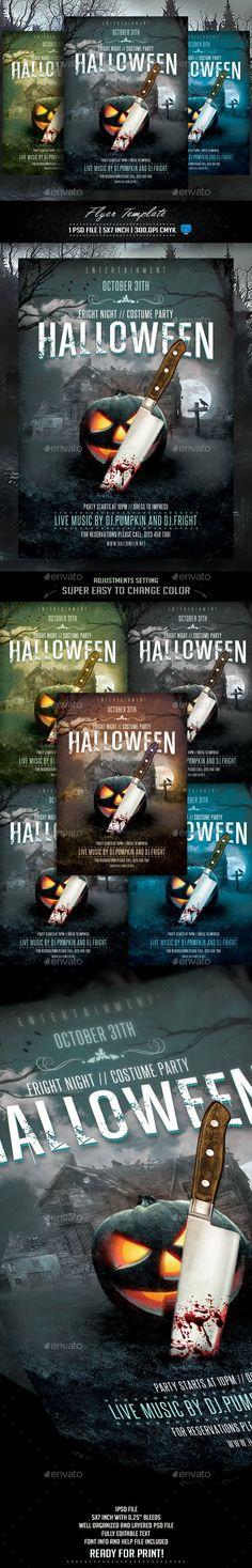 Halloween Flyer Tempalte #design #printtemplate Download: http://graphicriver.net/item/halloween-flyer-template/12836554?ref=ksioks