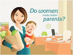 Do Women Make Better Parents? Check this Infographic and let us know what you think in comments below :) Happy Women's Day #womensday #women #march8