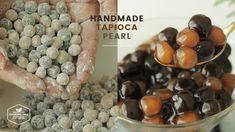 핸드메이드(ง˙∇˙)ว 타피오카펄 흑설탕 버블 만들기 : Handmade Tapioca Pearl(Boba) Recipe : タピ...