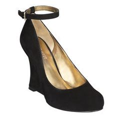 Black suede and just perfect for shul and formal affairs (I think)