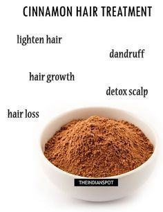 Natural hair treatment using cinnamon