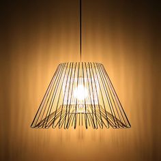 upcycled hangers turned pendant shade - love love love