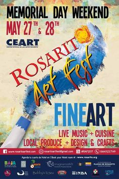 Save the date for this great event! The Rosarito Art Fest, enjoy fine art, live music, cuisine, local produce, design and crafts. Learn more by visiting www.rosaritoartfest.com #BajaCalifornia #Rosarito #DescubreBC #Baja #DiscoverBaja #ArtFest