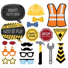 Photo Booth Props, Photo Booth Props Kit, Personalized Photo Booth Props Kit