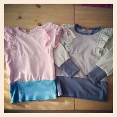 Little betty top (sewpony vintage) ×2 ..repurposed t-shirts.