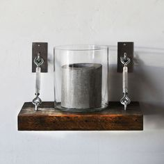 We're not sure if it's the turnbuckle hardware or the fact that this shelf has been preserved as close as possible to its original state, but this charming floating shelf deserves a place in your home....  Find the Floating Turnbuckle Shelf, as seen in the Storage Clearance Collection at http://dotandbo.com/collections/end-of-summer-sale-storage-clearance?utm_source=pinterest&utm_medium=organic&db_sku=SST0001-sml