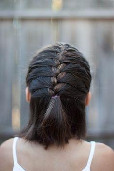 5 tresses pour les cheveux courts #cheveux #courts #tresses