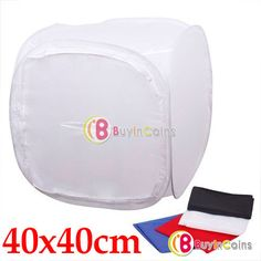 "16"" 40x40cm Photo Studio Shooting Tent Light Cube Box SoftBox with 4 Backdrops -- BuyinCoins.com"