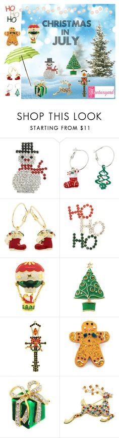 """""""Christmas in July!"""" by fantasyard ❤ liked on Polyvore featuring Improvements, Christmas, jewelry, christmasinjuly and christmasjewelry"""