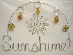 Sunshine hanging beaded wire design