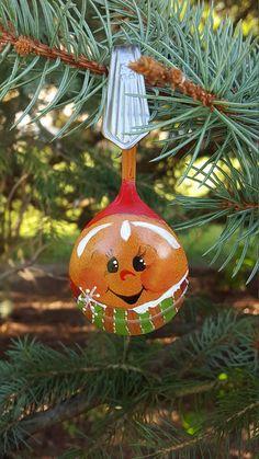 Spoon Gingerbread Boy Handpainted Ornament Bouillon Spoon