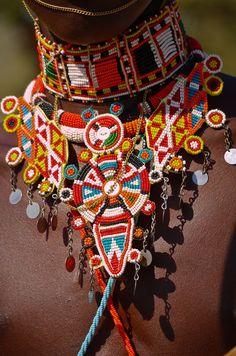 Maasai beaded collar for men