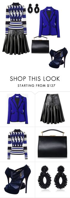 """# something blue"" by andrea-jones-4 ❤ liked on Polyvore featuring Osman, Marc by Marc Jacobs, Karen Millen, Handle, Jimmy Choo and Bibi Marini"