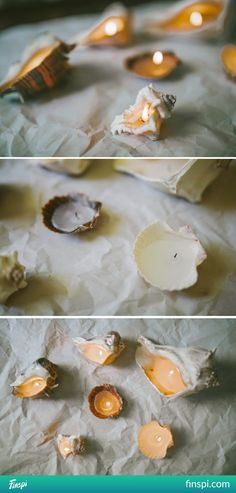 shells candles #diy #diy do it yourself #candles #shells