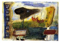 1940.11.05 Cesare Zavattini, Paesaggio con figure