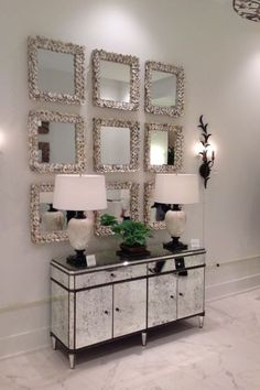 Pin by amira ali on dream house in 2019 зеркальная мебель, м Living Room Furniture, Living Room Decor, Bedroom Decor, Wall Decor, Bedroom Ideas, Hallway Decorating, Entryway Decor, Decorating Tips, Mirrored Furniture