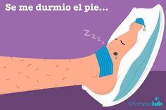 Se me durmió el pie.  Expresión mexicana.