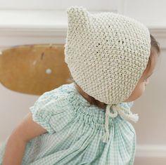 Misha and Puff — Sea Breeze Bonnet Baby Girl Fashion, Fashion Kids, Knitting For Kids, Baby Knitting, Knit Crochet, Crochet Hats, Knitted Hat, Knit Hats, Misha And Puff