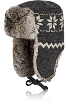 4e66ba29c2a4c Mens Lamb Sheep Leather Rabbit Russian Fur Aviator Hat Winter Soviet ...