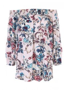 Update your Spring/Summer essentials with this women's, summer-ready, long sleeved bardot top. With a gorgeous, all-over, colourful floral detail, layered ov...