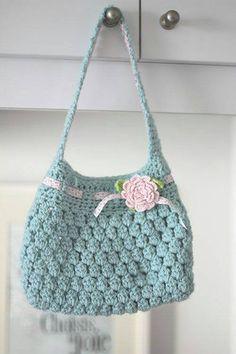 popcorn stitch purse