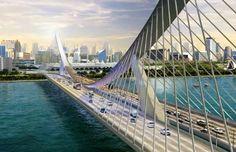 Dubai, Concept Inverted Arch Bridge…