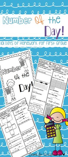 Number of the Day Journal! 101 days of Homework or Morning Work for Kindergarten, First and Second Grade!
