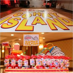 5 Bar & Bat Mitzvah Name Theme Ideas - Amusement Park Last Name Party at Westminster Hotel in NJ - mazelmoments.com