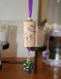 Wine cork ornaments grape cluster