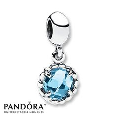 Pandora Dangle Charm Blue Topaz Sterling Silver