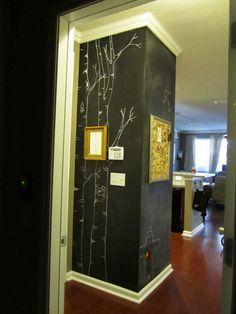 Ideas For Chalkboard Paint On The Pillar