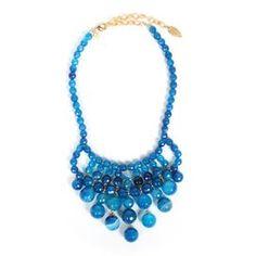 Blue Lace Agate Bib Necklace