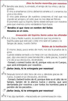,                          Dios ha hecho maravillas por nosotros~      Bendito sea Jesús, tu enviado, el amigo de los niño...