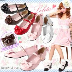 Rakuten: [♪ ankle belt Lolita pumps YD-11-J-11| cute ろ ribbon] P]It has been had ◆- Shopping Japanese products from Japan