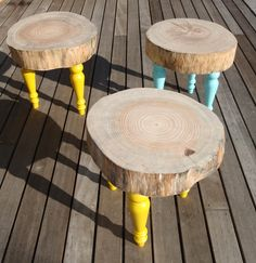 Great for inside or out, log tables.
