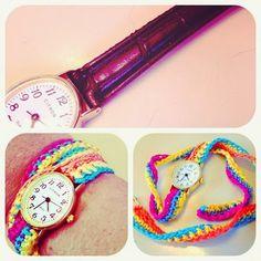 Festival Watch Strap :: Free Crochet Pattern ::
