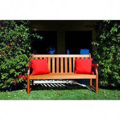 NEW Garden Bench Natural Wood 5 Foot Home Patio Outdoor Solid Furniture Outdoor Garden Bench, Terrace Garden, Lawn And Garden, Outdoor Sofa, Outdoor Living, Outdoor Decor, Outdoor Benches, Garden Art, Bench Swing