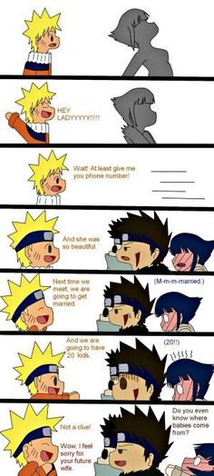 Naruto and Hinata funny. Make this happen Japan! Anime Naruto, Comic Naruto, Sasuke, Naruto And Hinata, Manga Anime, Funny Naruto Memes, Naruto Couples, Bd Comics, Naruto Pictures