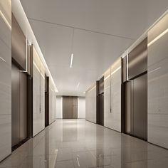 Lobby Interior, Luxury Interior, Interior Architecture, Corridor Design, Hall Design, Elevator Lobby Design, Office Lobby, Office Building Lobby, Lift Design