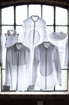 // assorted white shirts