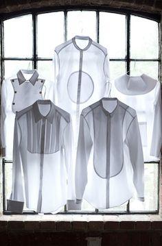 // assorted white shirts