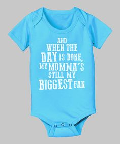 Look at this #zulilyfind! Turquoise 'And When the Day Is Done' Bodysuit - Infant #zulilyfinds