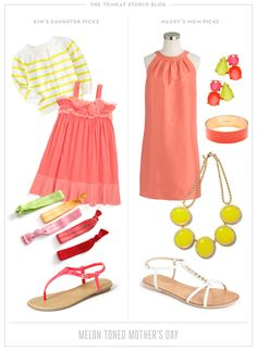 What to Wear :: Melon Toned Mother's Day from The TomKat Studio http://www.thetomkatstudio.com/whattowearmothersday/
