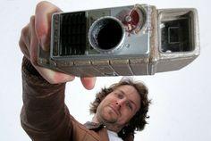 Film-maker Brett Harvey at Cornwall Film Festival in Newquay