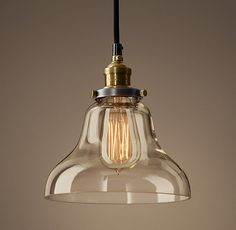 Would love 3 of these in polished nickel over kitchen island $99 ea. Clear Glass Boulangerie Filament Pendant
