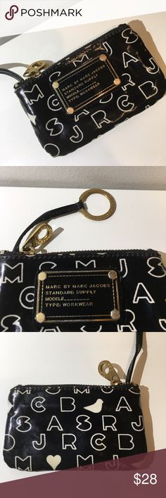 Marc by Marc Jacobs Card Case with Key Ring Marc by Marc Jacobs Card Case with Key Ring. Used with tarnish on zipper. Marc by Marc Jacobs Accessories Key & Card Holders