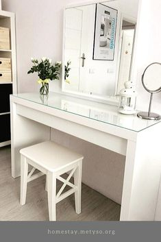 12 Dressing Table Ideas In Your Room 12 Dressing Table Ideas In Your Room Samantha Leslie SamanthaLesliee Home Decor Ideas 12 Dressing Table Ideas In Your Room nbsp hellip Room mirror Ikea Dressing Room, Dressing Table Decor, Ikea Malm Dressing Table, Dressing Table Vanity, Dressing Room Design, Dressing Tables, Bedroom Dressing Table, Tocador Vanity, Ikea Makeup Vanity
